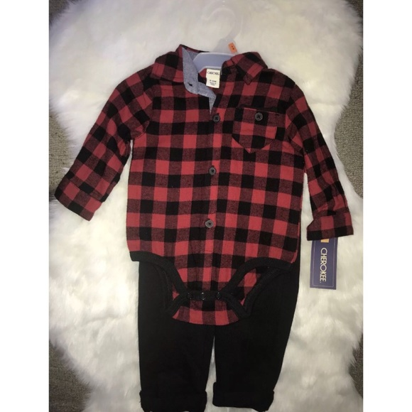 1b91ad59a Cherokee Matching Sets | Baby Boy Flannel Onesie And Pants | Poshmark